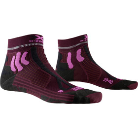X-Socks Trail Run Energy Chaussettes Femme, dark ruby/flamingo pink